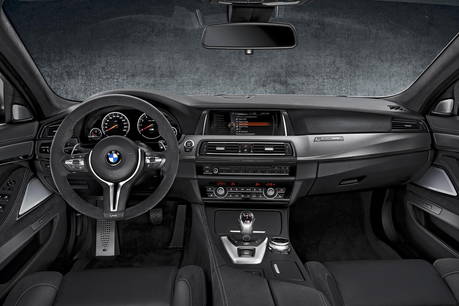 Interior of the BMW M5 30 Jahre Edition