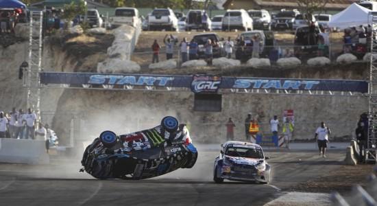 The crash between Ken Block and Joni Wiman