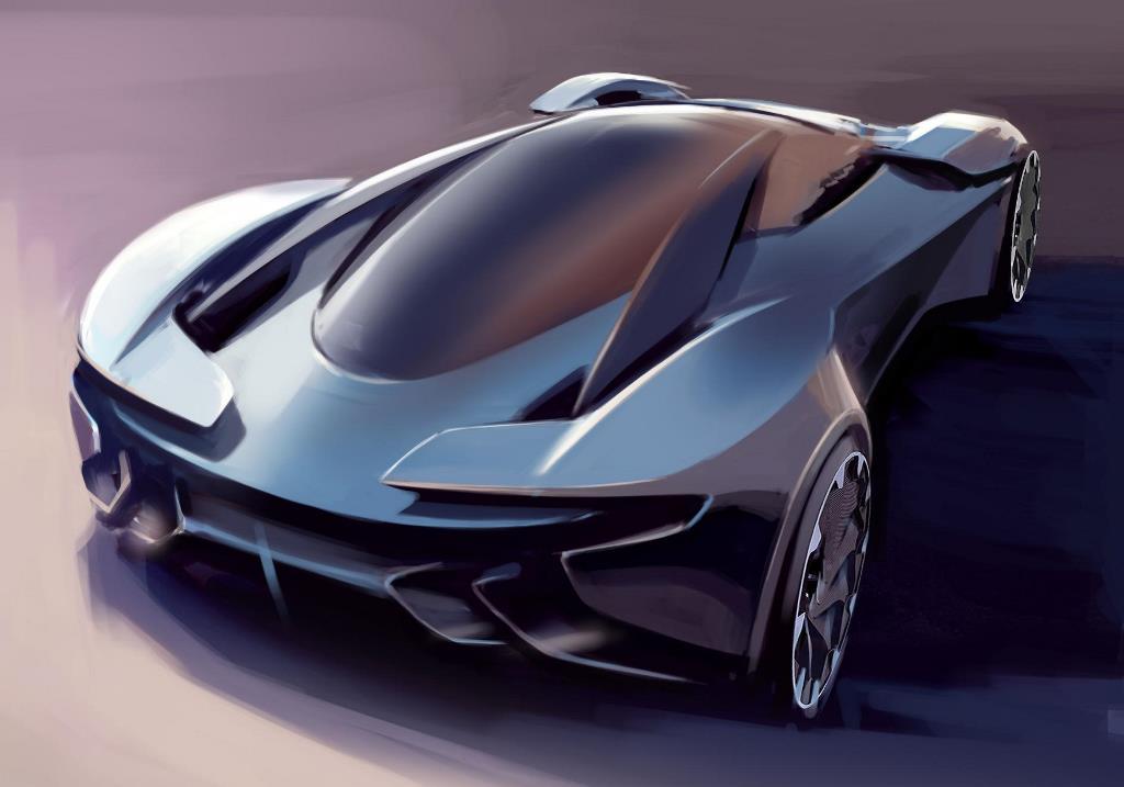 Aston Martin DP-100 Vision Gran Turismo Concept drawing