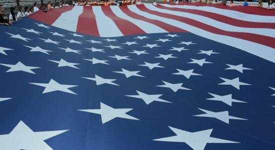 USA flag at Indianapolis