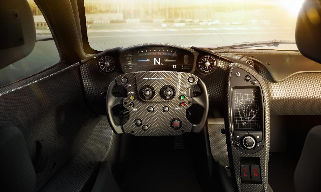 McLaren P1 GTR steering wheel