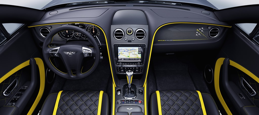 Bentley Continental GT Speed Breitling Jet Team Series Limited Edition interior