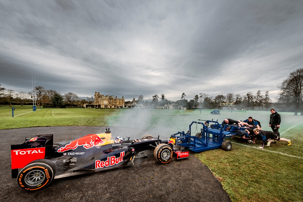 Red Bull F1 vs Rugby Scrum