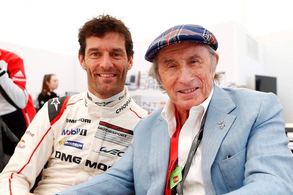 Mark Webber with Sir Jackie Stewart